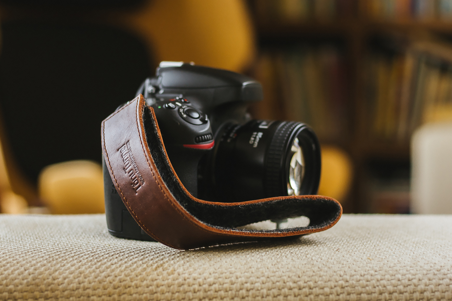 Tnu Tunnel camera with Stella Soomlais leather strap